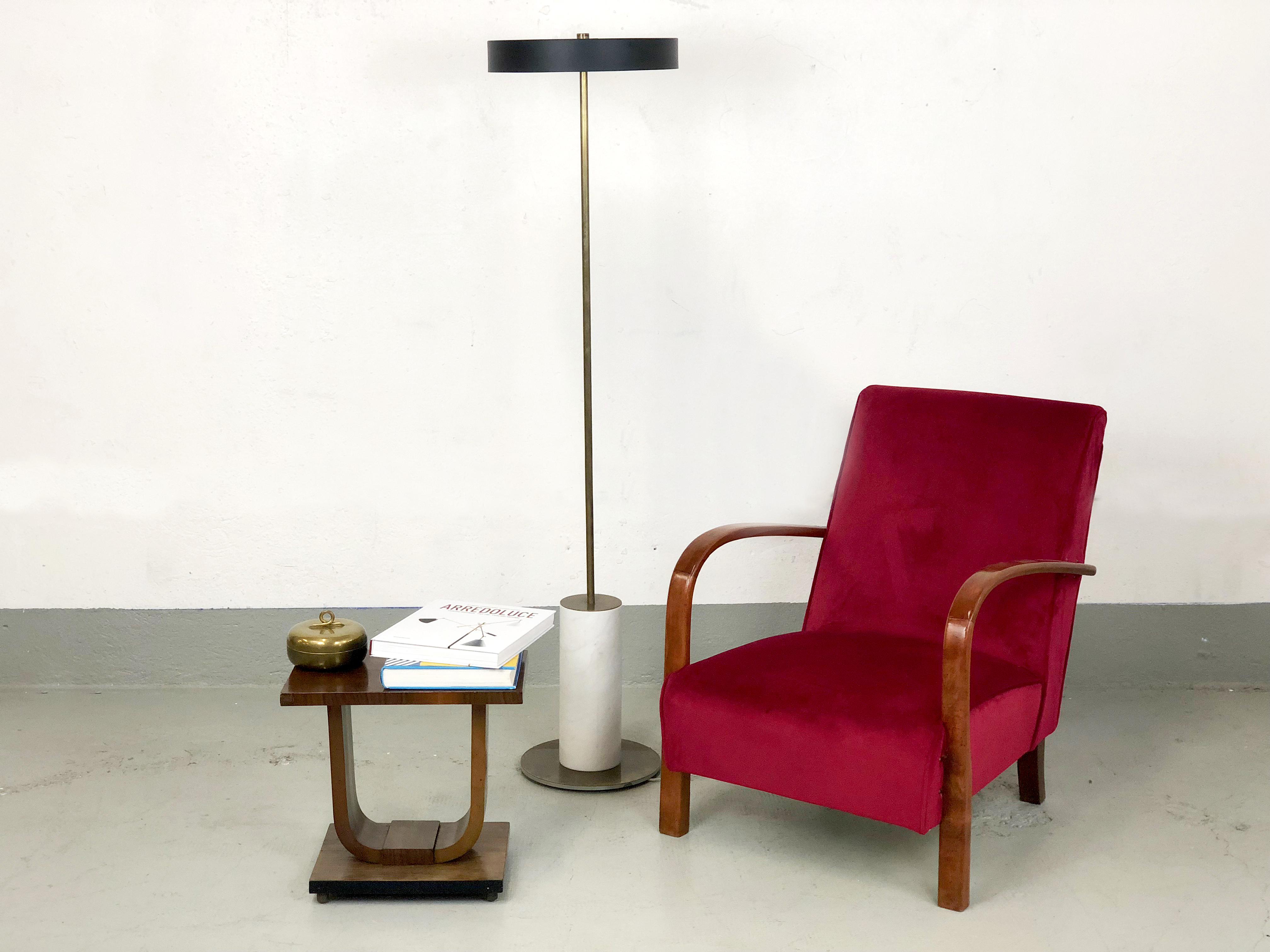 Lampada da Terra design contemporaneo ottone - Ltwid