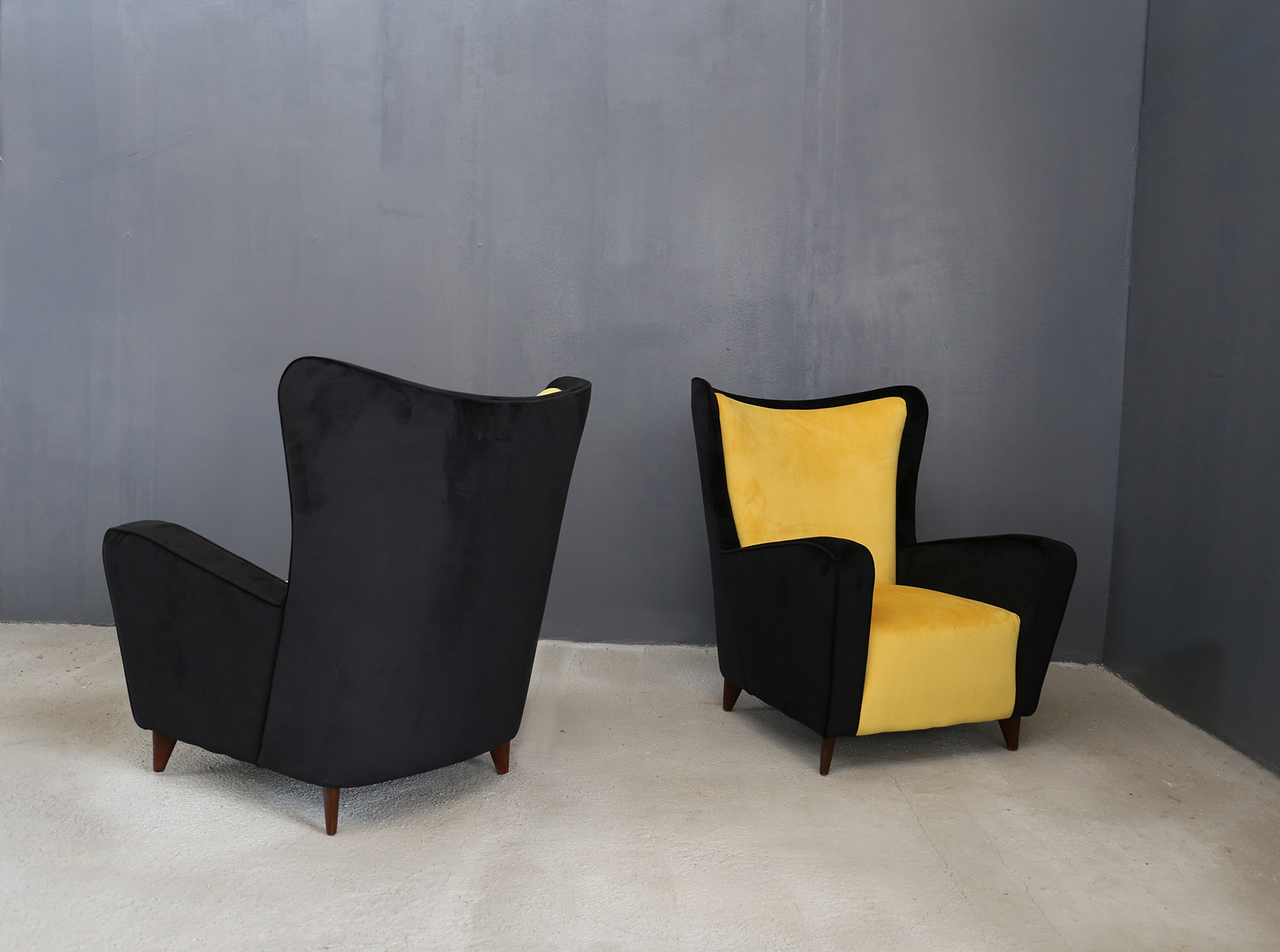 Ico Parisi Poltrone.Ico Parisi Armchairs Restored In 1950 With Double Shell